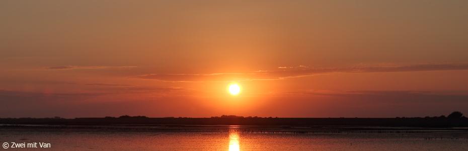 Sonnenuntergang vom Deich aus, Eiderstedt